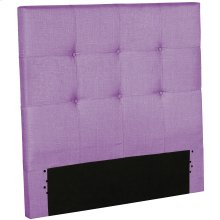 Henley Fashion Kids Button-Tuft Upholstered Headboard, Orchid Finish, Full