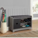 Rustic Distressed Grey Shoe Cabinet Product Image