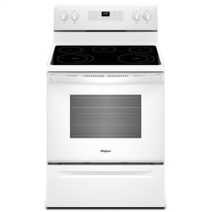 5.3 cu. ft. Freestanding Electric Range with Frozen Bake Technology - WHITE