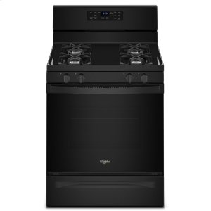5.0 cu. ft. Freestanding Gas Range with Adjustable Self-Cleaning Black - BLACK
