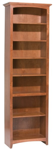 "GAC 84""H x 24""W McKenzie Alder Bookcase in Antique Finish"