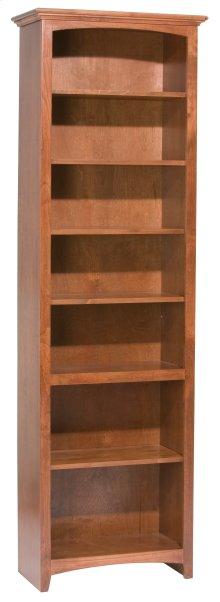 """GAC 84""""H x 24""""W McKenzie Alder Bookcase in Antique Finish"""