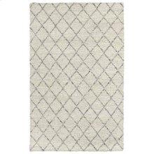 Diamond Looped Wool Ivory 8x10