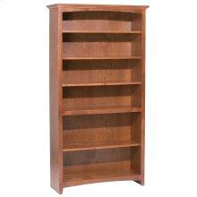 """GAC 72""""H x 36""""W McKenzie Alder Bookcase"""