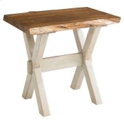Bench*Made Maple Crossbuck Live Edge End Table Product Image