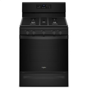 5.0 cu. ft. Freestanding Gas Range with Center Oval Burner - BLACK
