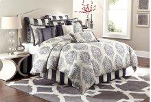 12 Pc Queen Comforter Set Graphite