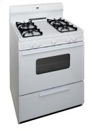 30 in. Freestanding Sealed Burner Spark Ignition Gas Range in White Product Image