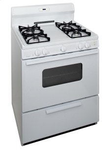 30 in. Freestanding Sealed Burner Spark Ignition Gas Range in White
