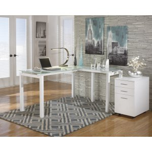 AshleySIGNATURE DESIGN BY ASHLEYBaraga - White 2 Piece Home Office Set