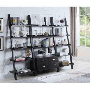 CoasterContemporary Cappuccino Leaning Bookcase