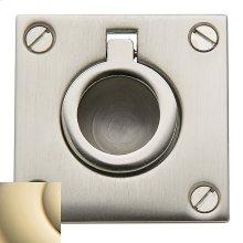 Lifetime Polished Brass Flush Ring Pull