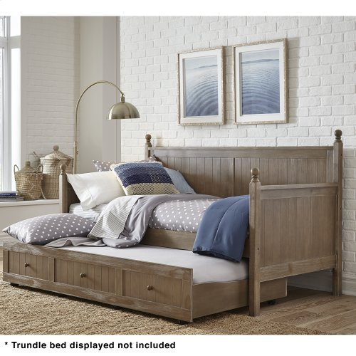 Carston Wood Daybed with Ball Finials, Washed Gray Finish, Twin