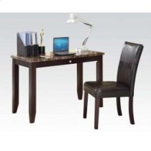 2pc Pk Desk , Chair W/faux M.