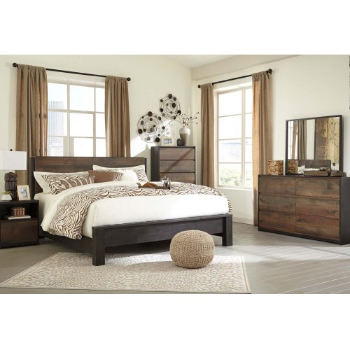 Windlore - Dark Brown 2 Piece Bedroom Set