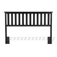 Belmont Wooden Headboard Panel with Slatted Grill Design, Black Finish, Full / Queen Product Image