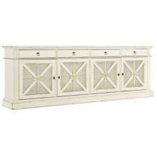 Home Entertainment Sanctuary Grand Premier Entertainment Console Blanc