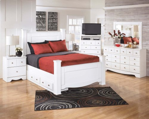 Weeki - White 5 Piece Bed Set (Queen)