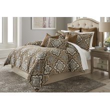 10pc King Comforter Set Saddle