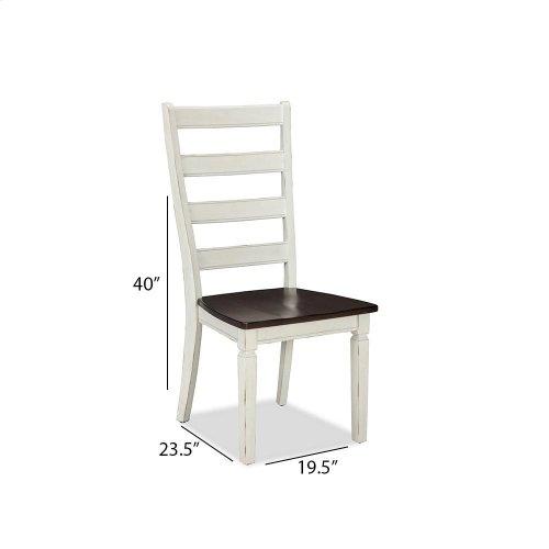 Glennwood Side Chair  White & Charcoal