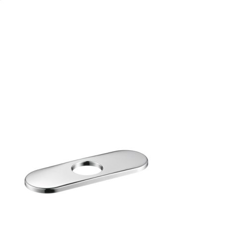 """Chrome Base Plate for Contemporary Single-Hole Faucets, 6"""""""