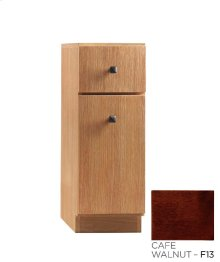 "Amberlyn 12"" Freestanding Bathroom Storage Drawer Bank in Café Walnut"