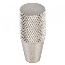 Beliza Conical Knurled Knob 1/2 Inch Brushed Satin Nickel