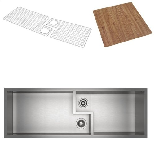 Culinario Double Bowl Ultimate Water Appliance Stainless Steel Sink With Cutting Board