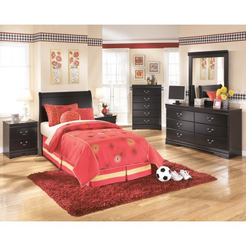 Huey Vineyard - Black 2 Piece Bedroom Set