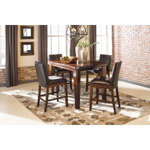 Ashley Furniture Larchmont - Burnished Dark Brown 5 Piece Dining Room Set