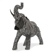 Large Elephant Aluminum Scroll Design Product Image