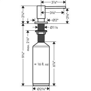Stainless Steel Optic Soap- /lotion dispenser