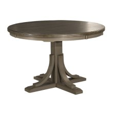 Clarion Round Dining Table - Pedestal Base - Ctn B - Distressed Gray (need To Order Top)
