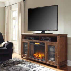 Ashley Furniture Tamonie - Rustic Brown 2 Piece Entertainment Set