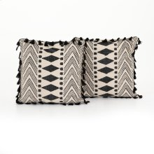 "20x20"" Size Faded Block Print Pillow, Set of 2"