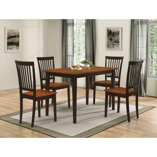 Oakdale Casual Tobacco Five-piece Dinette Set