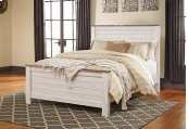 Willowton - White Wash 3 Piece Bed Set (Queen)