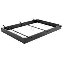 "Pedestal 646 Bed Base with 6-1/4"" Black Steel Frame and Detachable Bolt-On Headboard Brackets, Full - Full XL"