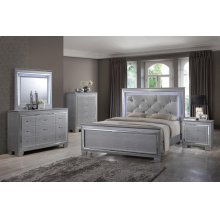 Hollywood 4PC QUEEN Bedroom Set (BED, DRESSER, MORROW & NIGHTSTANDT)