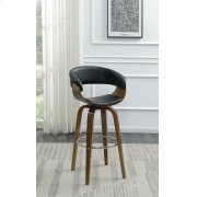 Contemporary Walnut and Black Bar Stool Product Image