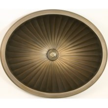 Bronze Oval Fluted