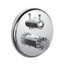 "7098tt-tm - 1/2"" Thermostatic Trim With 3-way Diverter Trim (shared Function) in Standard Pewter"