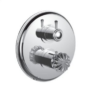 """7098tt-tm - 1/2"""" Thermostatic Trim With 3-way Diverter Trim (shared Function) in Bright Pewter"""