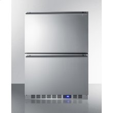 Outdoor Drawer Refrigerator In Stainless Steel, for Built-in Residential or Commercial Use