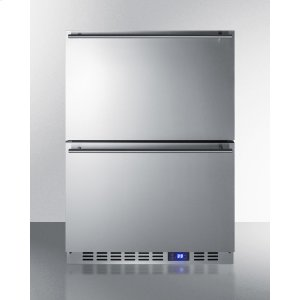 Outdoor Drawer Refrigerator In Stainless Steel, for Built-in Residential or Commercial Use -