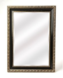 Antiqued and classic, brings elegance where ever its hung. Place this mirror over a console table in your entryway or hall to enlighten or expand the space. Hang over the mantle to bring bright sohpistication to your living area. This traditional design