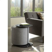 Transitional Grey Accent Table and Ottoman Product Image