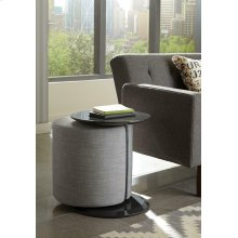 Transitional Grey Accent Table and Ottoman