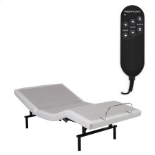 Vibrance Adjustable Bed Base with Head and Foot Articulation, White Finish, Twin XL