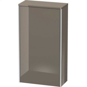 Semi-tall Cabinet, Flannel Gray High Gloss Lacquer